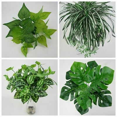 Outdoor Office Cloth Home Green Grass Foliage Bush Fake Leaf Artificial Plant