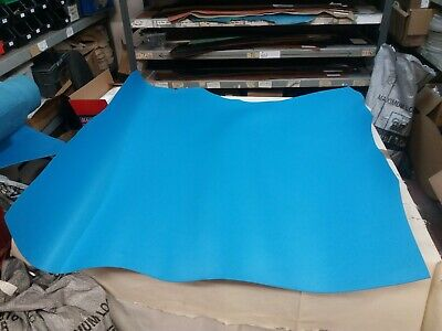 18.3/4sq ft  BLUE LEATHER 3.5MM THICK LARP CRAFT REENACTMENTS BAGS STRAPS #577