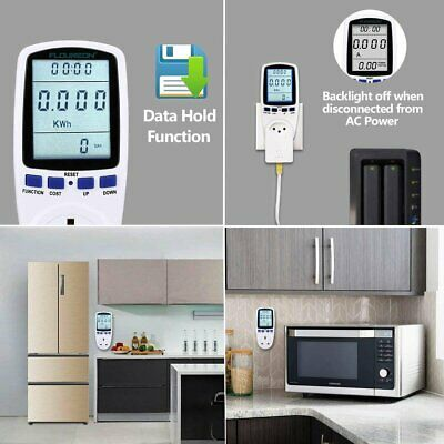 UK Plug-in Electricity Power Meter Consumption Meter Energy Monitor Watt Analyz