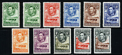 BECHUANALAND PROTECTORATE KG VI 1938 Pictorial Part Set  SG 118 to SG 128 MINT