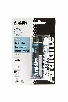 Araldite 400010 Adhesive Steel Epoxy Tubes For Metal Bonding 2 x 15ml