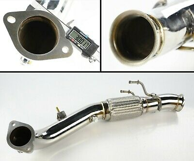 """2.75/"""" STAINLESS STEEL EXHAUST FRONT PIPE DOWNPIPE FIT FITD FOCUS ST225 ST 225 RS"""