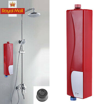 3000W UK Tankless Water Heater Electric Instant Hot Under Sink Kitchen Bathroom