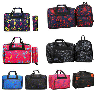Padded Sewing Machine Bag/Carry Case Pocket Pouch Storage Large Printing Unisex