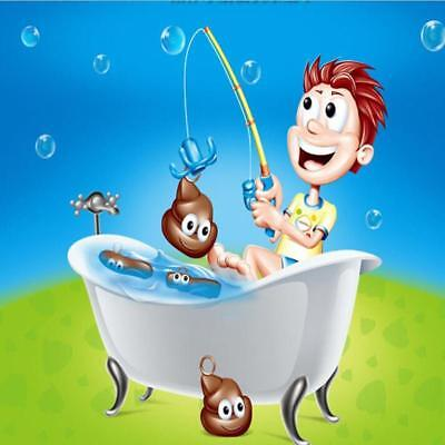 Kids Toy Poo Plastic Fishing Floaters Bath Game Novelty Rude Prank Funny Gift WO