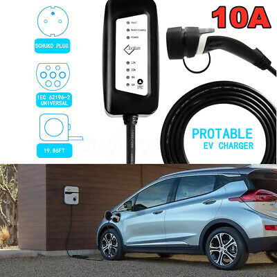 Home Portable Level 2 EV Electric Car Vehicle Charger Vehicle Cable 110-240V 16A