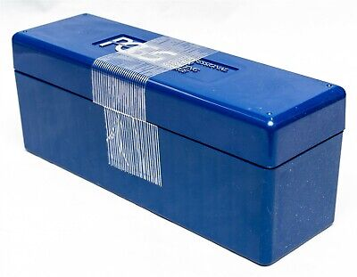 2 Two Official PCGS 20 Graded Coin Slab Blue Plastic Storage Boxes Lightly Used
