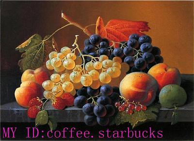 """Art Repro oil painting:""""Fruit still life at canvas"""" 20x24 Inch"""