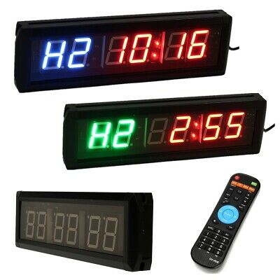 LED Remote Control Interval Training Timer Wall Clock For Gym Tabata1.8''inch