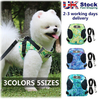 No-pull Dog Harness Step-in Puppy Harness Leash Set Reflective Pet Vest Padded