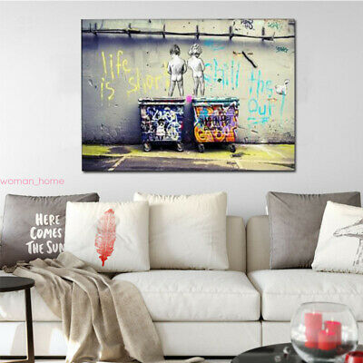 Abstract Modern Oil Animal Painting Canvas Painted Poster Wall Art Picture  Gift