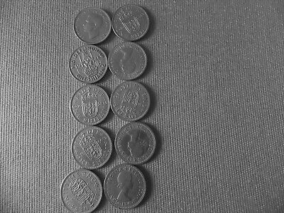 Qe11 And George V1 Old One Shilling Coins