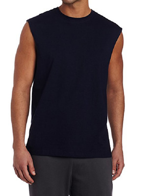 NWT Men's Russell Athletic 4X   Cotton Crew Neck Muscle  Tee Shirt  Navy