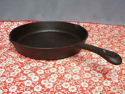 "B & S 10 1/2"" Cast Iron Skillet With Inset Grooved Heat Ring Restored"