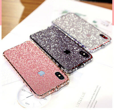 save off bb700 3420f BLING DIAMOND METAL Bumper Case Glitter Sticker For iPhone X XS Max ...