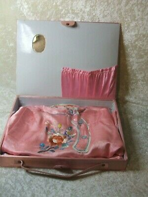 Vintage  Silk Embroidered   Japanese Childs    Outfit Used In Box