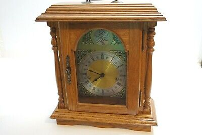 Franz Hermle Mantle Clock 357-020 German Movement Tempus Fugit Wound Tight As-Is