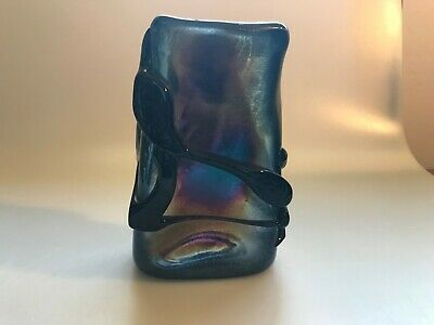 Vintage Esteban Prieto Art Glass Iridescent Studio Model Vase For Japan Exhibit