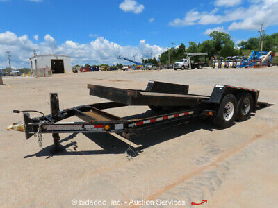 2014 Towmaster T-12DT 16'  T/A Tilt Deck Equipment Trailer -Repair
