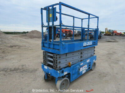 2012 Genie GS-2632 26' Electric Scissor Lift Man Manlift Aerial Platform bidadoo