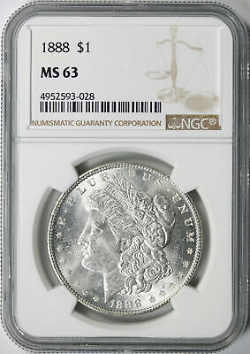 1888 $1 Morgan Dollar NGC MS63