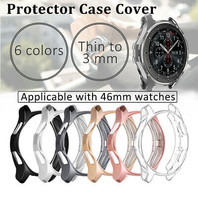 For Samsung Galaxy Watch 46mm Or Gear S3 Smart Watch HD TPU Protector Case Cover