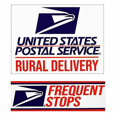 """USPS MAGNETIC SIGN Rural Delivery US Mail  9"""" x 12"""" w/ Frequent Stops Magnet"""