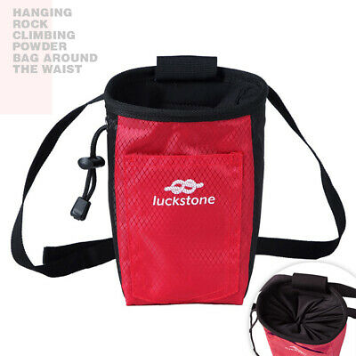 LUCKSTONE Rock Climbing Chalk Bag Magnesium Powder Pouch Sport Dancing Waist Bag