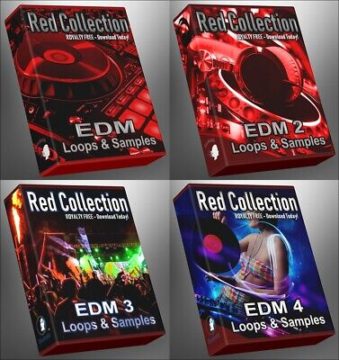 Ultimate EDM RED Collection - All EDM 1-4 Epic Megapack Bundle WAV Loops Samples