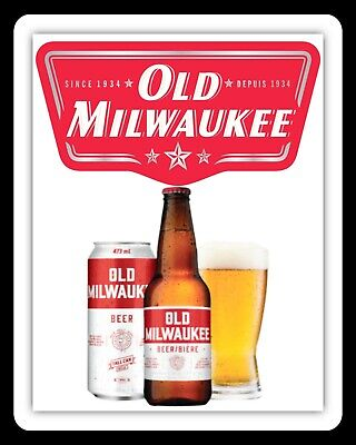 Old Milwaukee Beer Man Cave Pub Bar Metal Plaque Tin Sign Others Are Listed 1736
