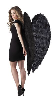 Black Feather 120cm Angel Wings Feather Fairy Christmas Fancy Dress Accessory