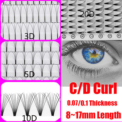 73f6c0c06ab Russia Premade Volume Fans Individual Eyelashes Extension Mink C/D Curl  8~17mm