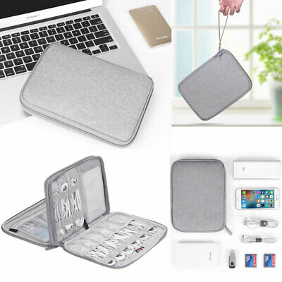 Electronics Accessories Organizer Travel Bag Storage Drive Cable USB Gadget