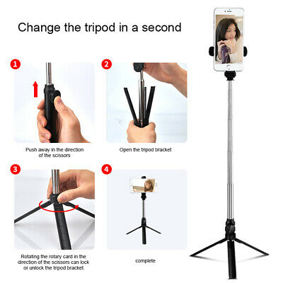 4in1 Wireless Bluetooth Selfie Stick Tripod With Extendable Monopod &Remote