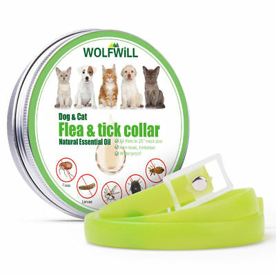 Natural Anti Flea & Tick Collar For Dogs Cats Pets Pest Repellent Rubber Necklet