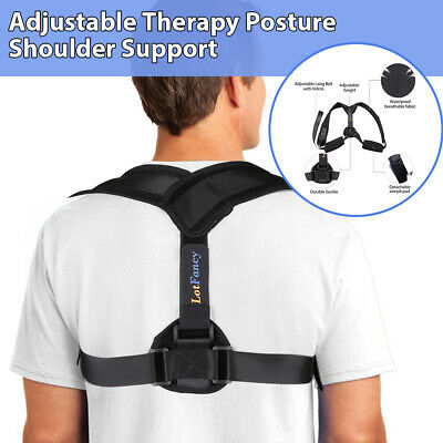 Posture Corrector Adjustable Back Shoulder Belt Support Body Brace Back Unisex M