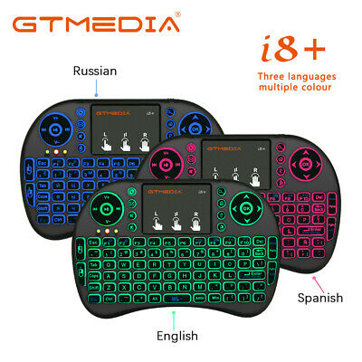 Spanish i8 mini keyboard 3 color backlit i8 Air Mouse Remote Control Touchpad EU