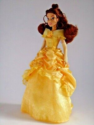 Disney Parks Beauty & The Beast Belle Deluxe Doll Royal Golden Luxury Ballgown,