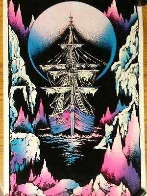 Ice Ghost Ship Boat Black Light Poster No Frame