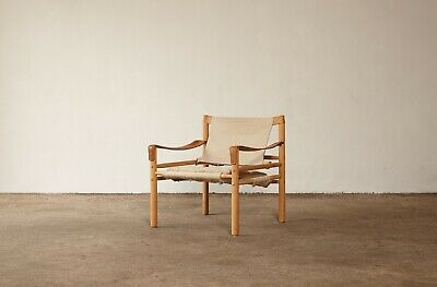 An Arne Norell safari sirocco chair in canvas, Sweden, 1970s.
