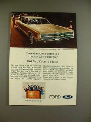 ford country squire 2 page print ad 1968 ~~ 1969 model $9 991969 ford ltd country squire station wagon ad luxury