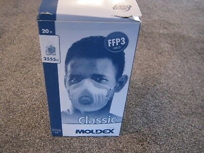 Moldex Classic Dust/Face Mask Ffp3 Nr D - 2555 - Box Of 20 - Brand New