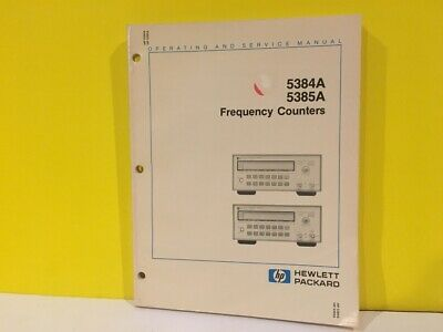 HP/Agilent 05384-90006 5384A 5385A Frequency Counters Operating + Service Manual