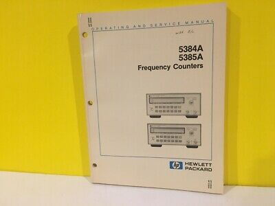 HP /Agilent 05384-90006 5384A 5385A Frequency Counter Operating + Service Manual