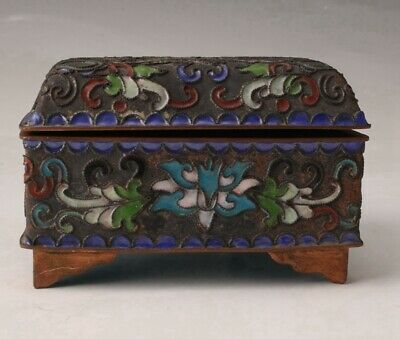 High-Grade Cloisonne Enamel Jewelry Box Old Handmade Crafts Collection Gifts