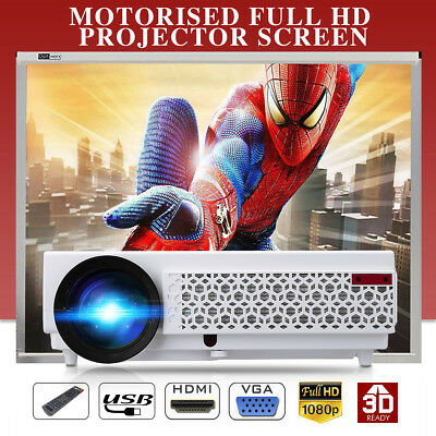 LCD LED Projector 1080P Home Theater Cinema 5000 Lumens Media Player ATV Laptop