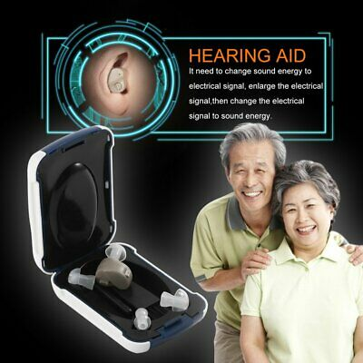 Small In-Ear Voice Sound Amplifier Adjustable Tone Mini Hearing Ear AidCR