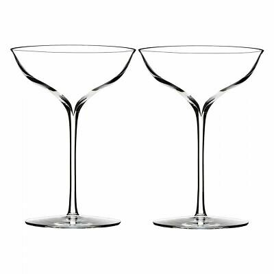 Waterford Crystal Elegance Wine Story Champagne Saucer (Pair)