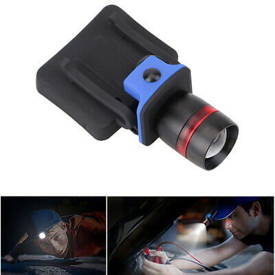 Zoomable LED Clip On Cap Light Hard Hat Torch Fishing Sport Camping Outdoor CHY