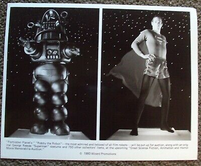 GEORGE REEVES Superman COSTUME Forbidden Planet ROBBY THE ROBOT Wizards PHOTO 80